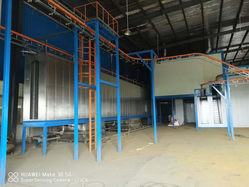 低价转售二手全新电梯板喷涂流水线
